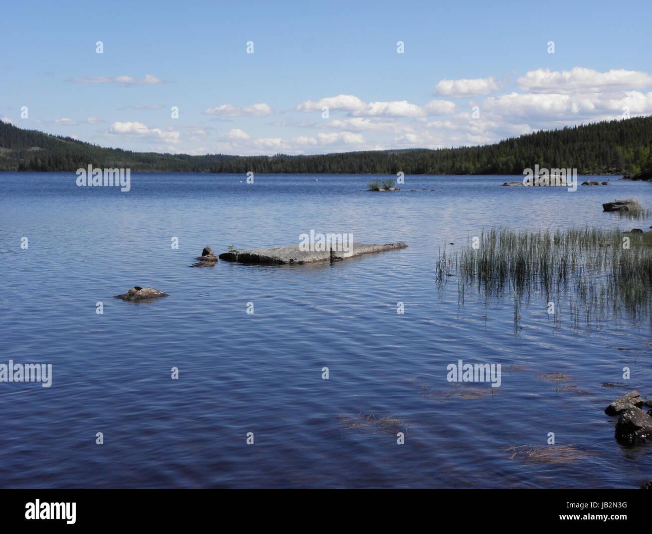 Norwegen - Idyllischer See Stock Photo