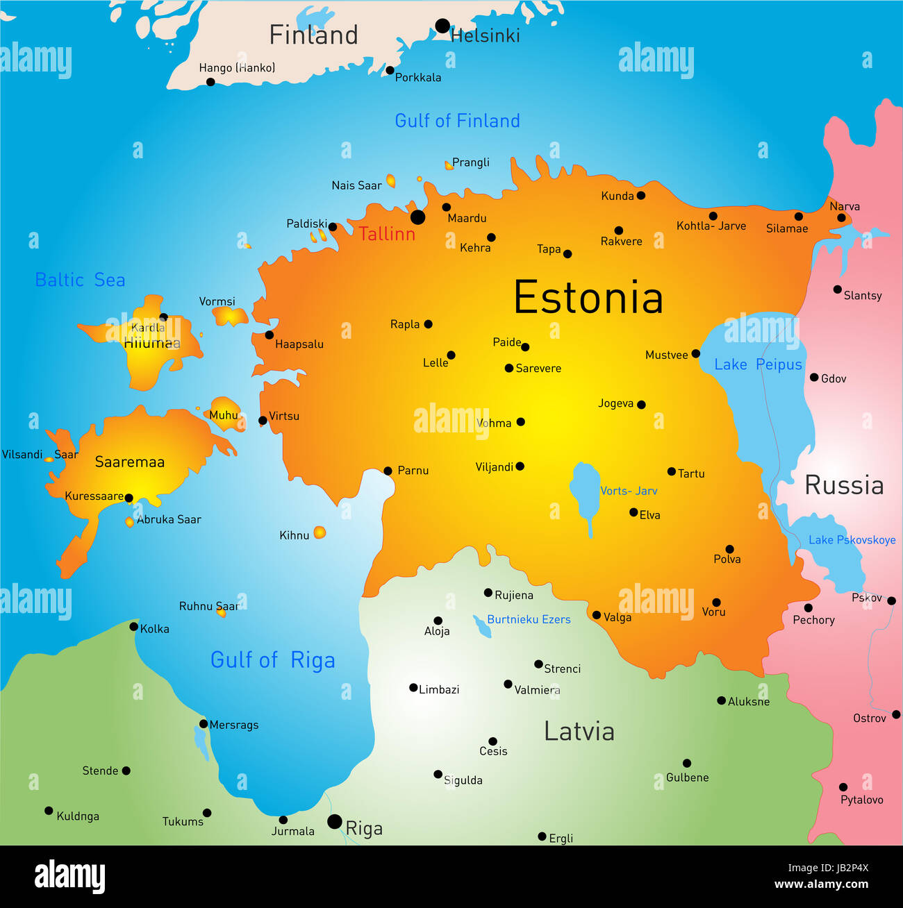 Vector color map of estonia country stock photo 144505450 alamy vector color map of estonia country gumiabroncs