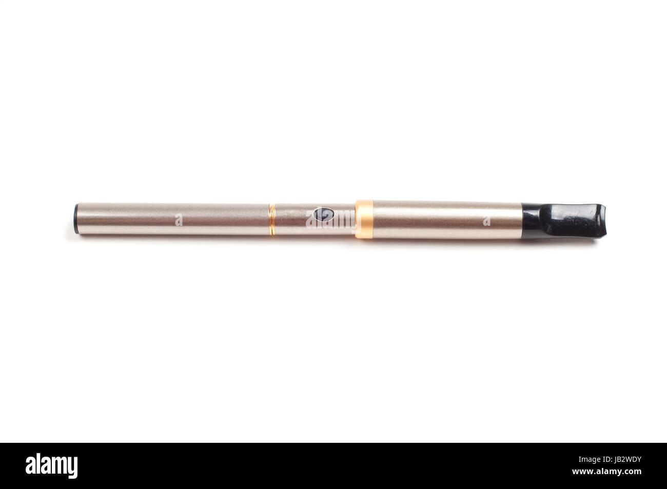Shot of electronic cigarette isolated on white - Stock Image