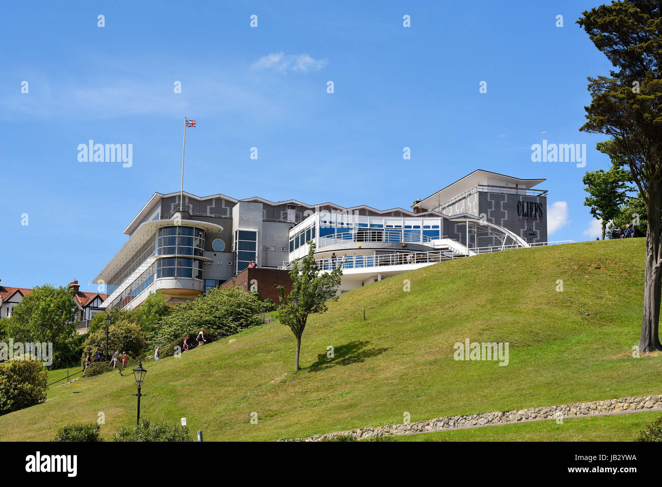 Cliffs Pavilion at Westcliff on Sea, Essex, owned by Southend Borough Council and run by HQ Theatres and Hospitality. - Stock Image