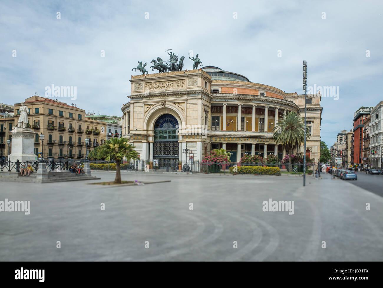 Teatro Politeama Garibaldi in Palermo, Italy Stock Photo