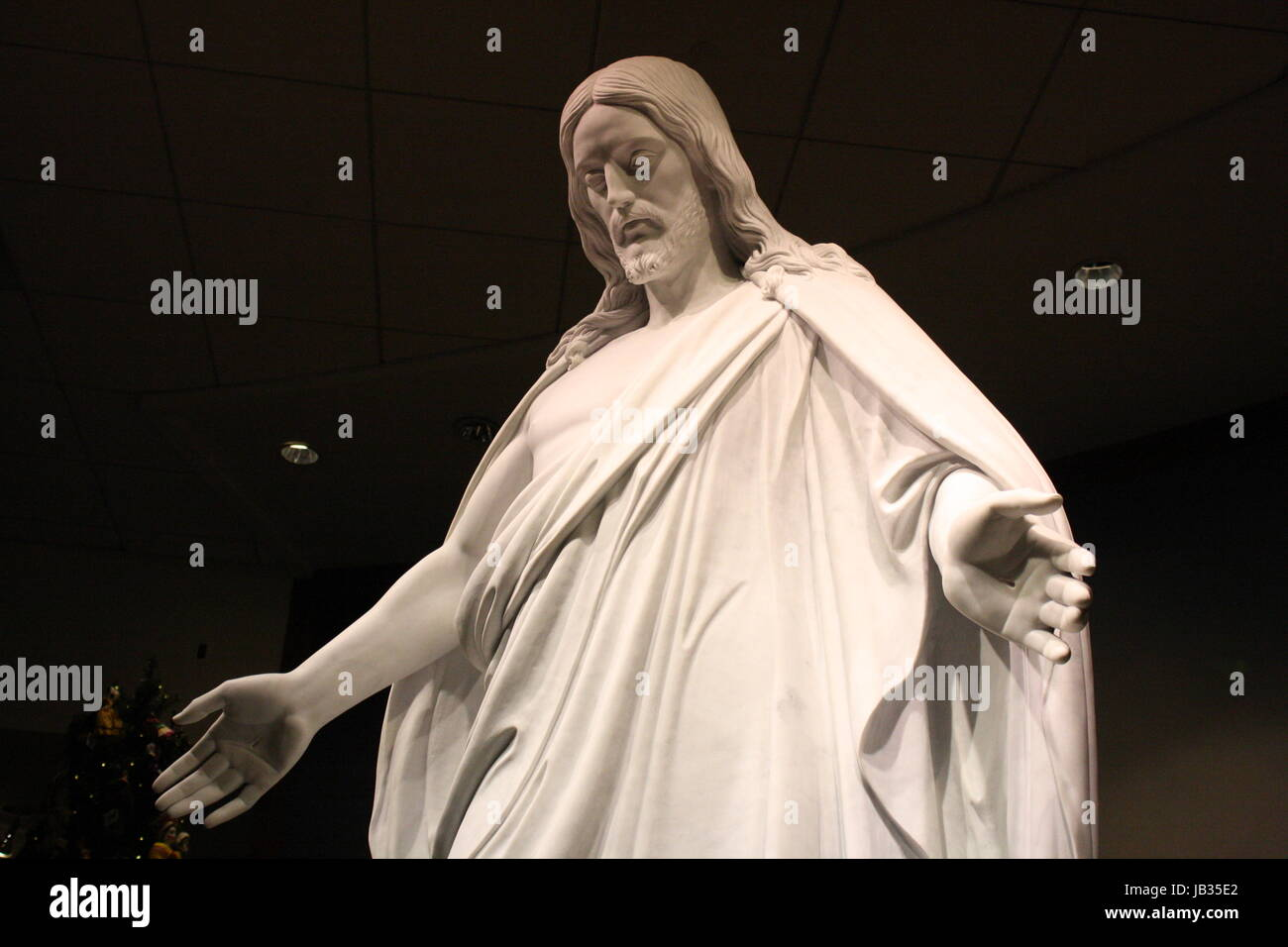 Replica of Thorvaldsen's Christus in a LDS Temple Visitor's Center - Stock Image