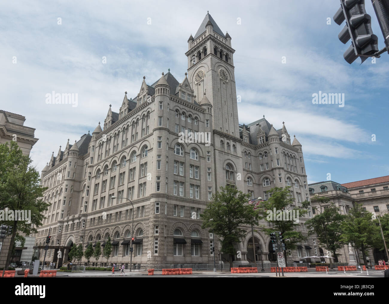 Trump International Hotel, Washington, DC, in the Old Post Office Building, leased to Trump Organization, now a - Stock Image