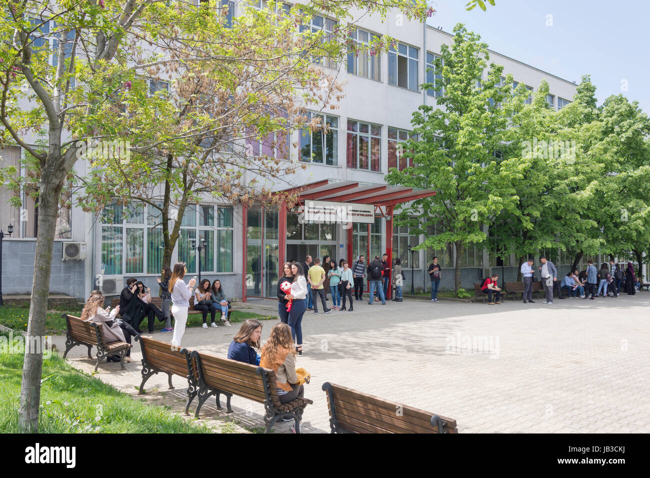 Faculty of Philosophy, University of Pristina, Pristina, Republic of Kosovo - Stock Image