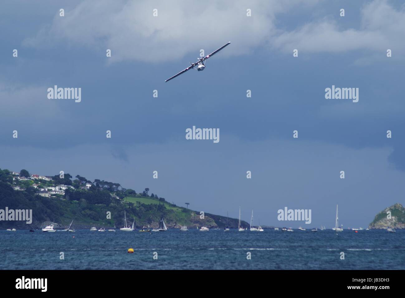 Catalina Flying Boat, Torbay Airshow 2017, Flying Over Torquay. Devon, UK. - Stock Image