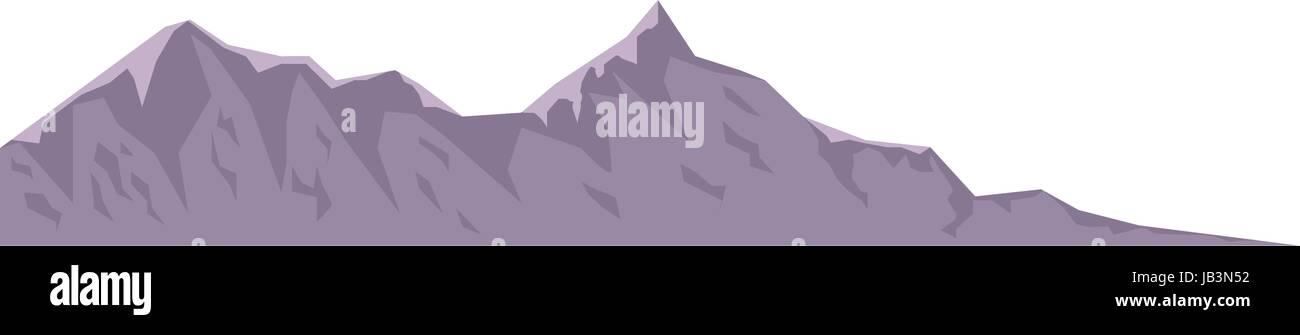 mountain peak nature high image - Stock Vector
