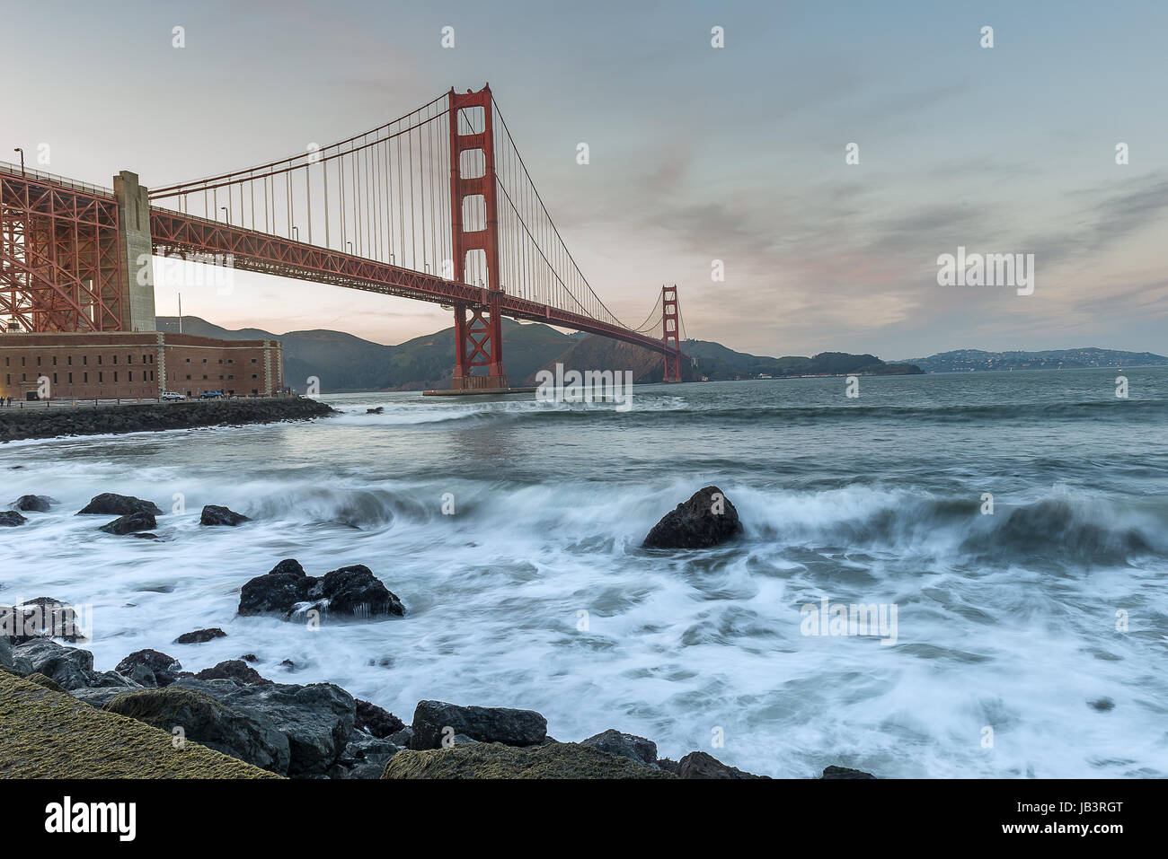 World Famous landmark of the world, Golden Gate Birdge - Stock Image