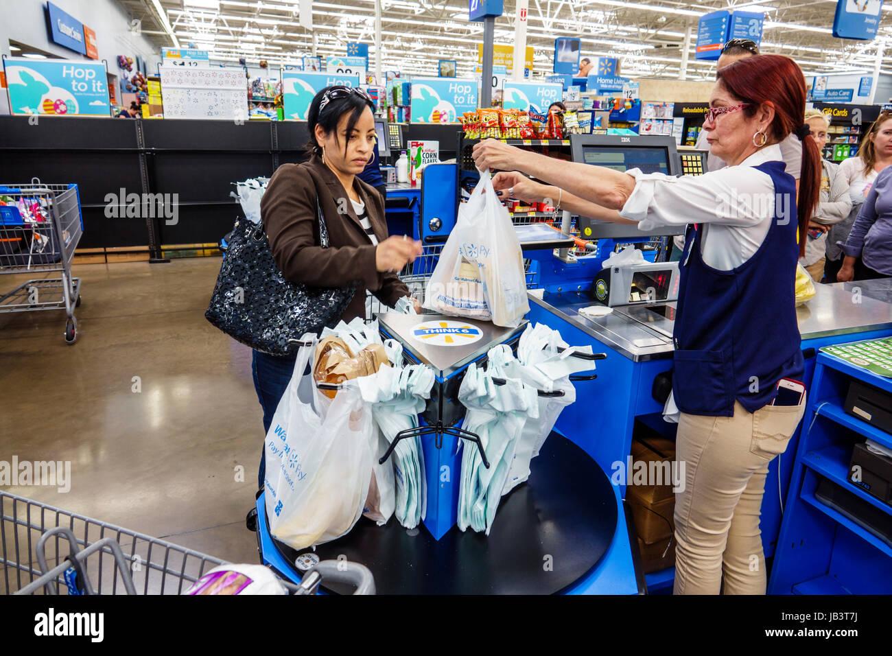 Miami Florida Westchester Walmart Store Shopping Cashier Job Plastic