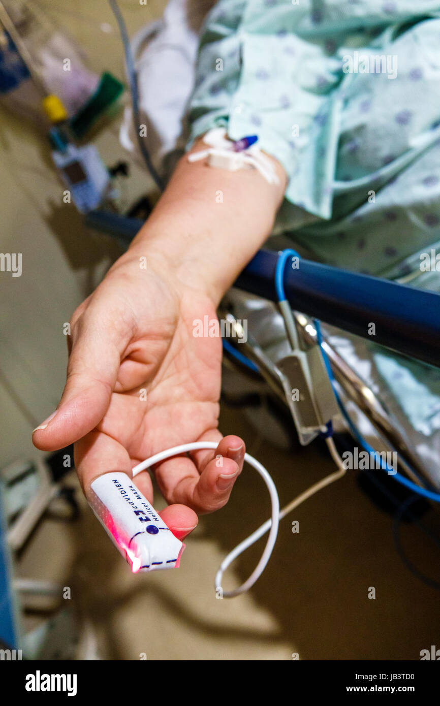Miami Florida Baptist Hospital patient woman hand finger