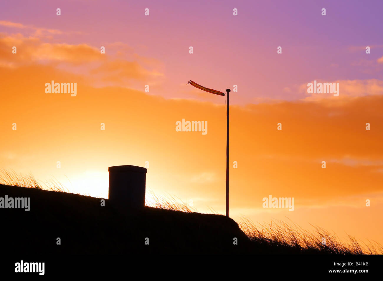 sunrise in denmark - Stock Image