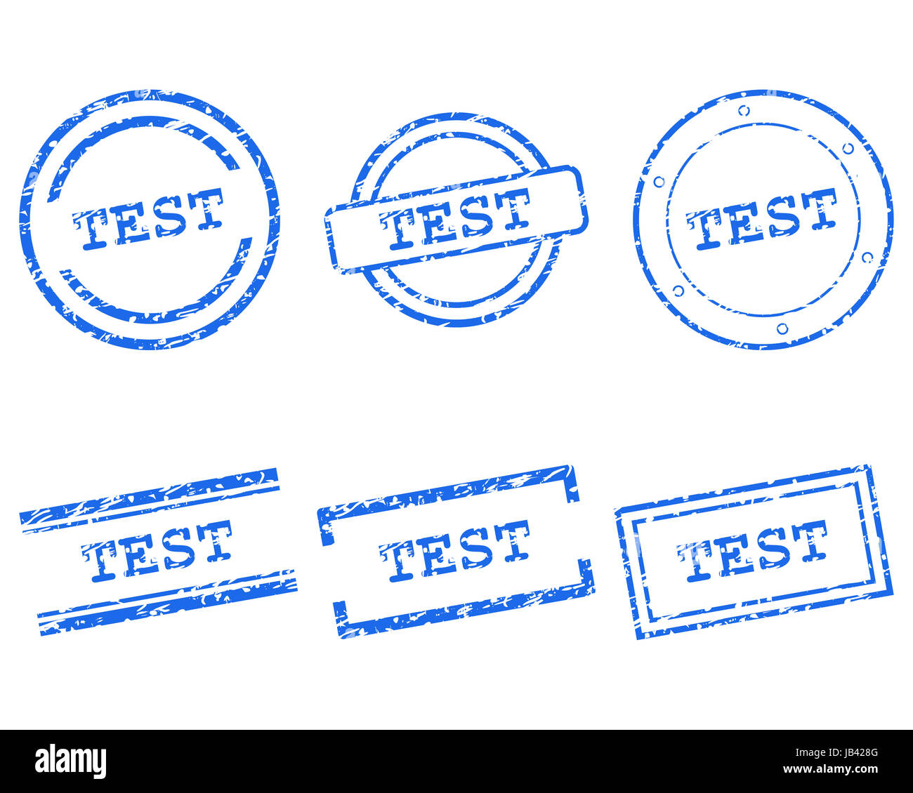 Test Stempel - Stock Image