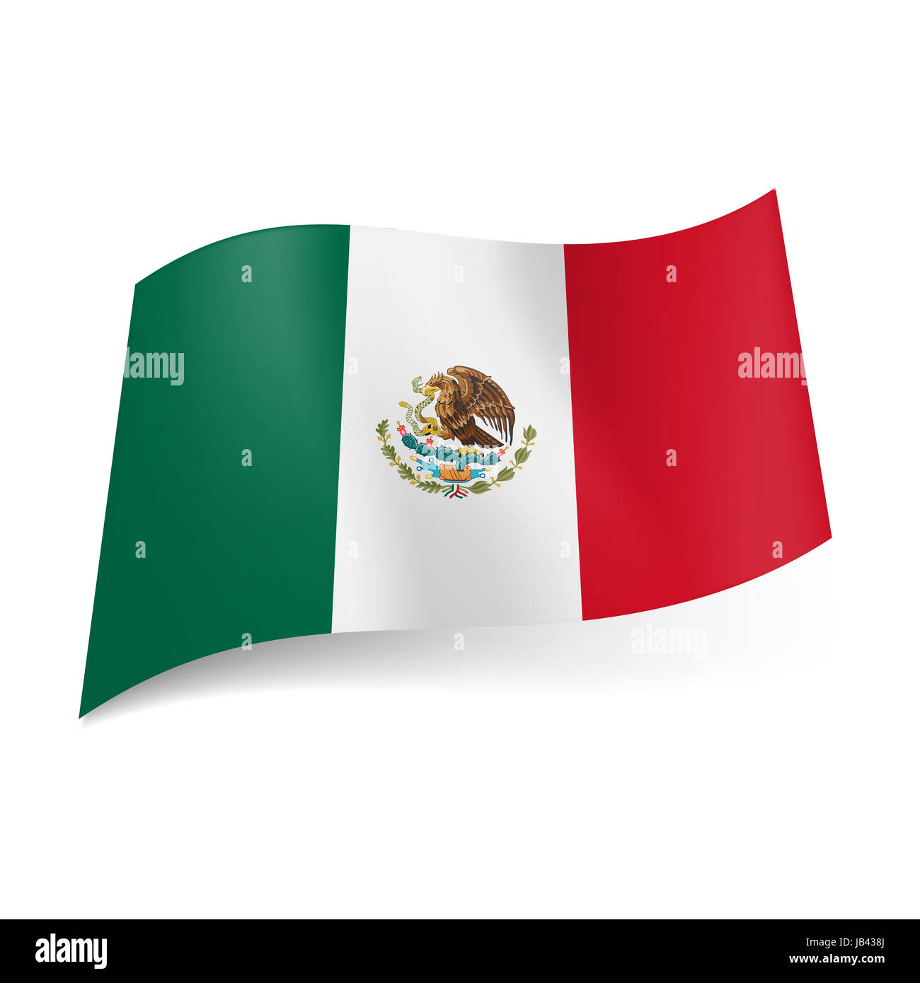National Flag Of Mexico Green White And Red Vertical Stripes With