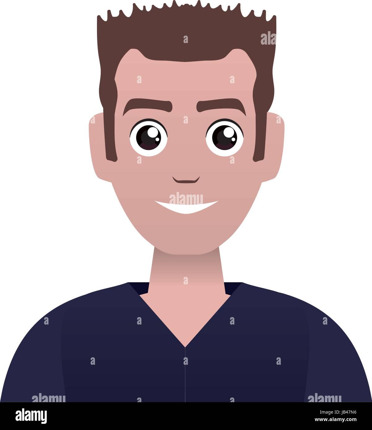 face cartoon man - Stock Vector