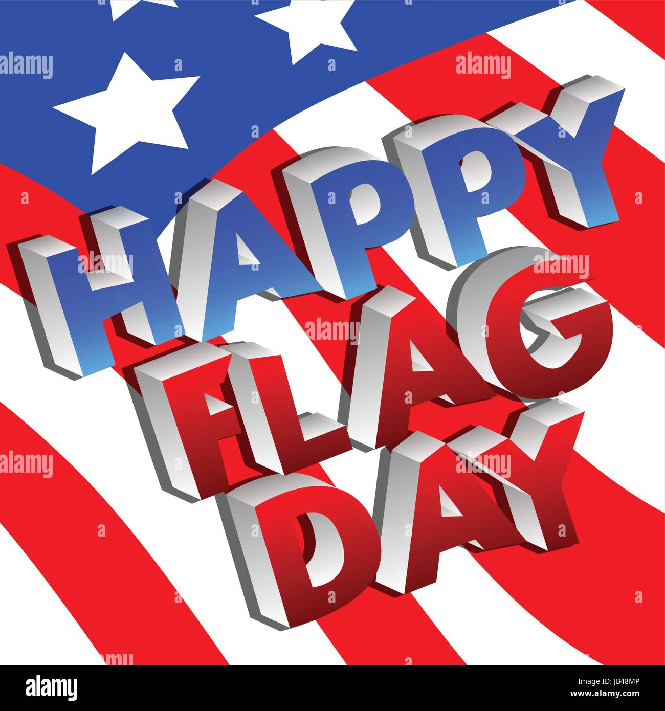 Vector illustrated banner or poster for the U.S.A.'s Flag Day holiday. - Stock Vector