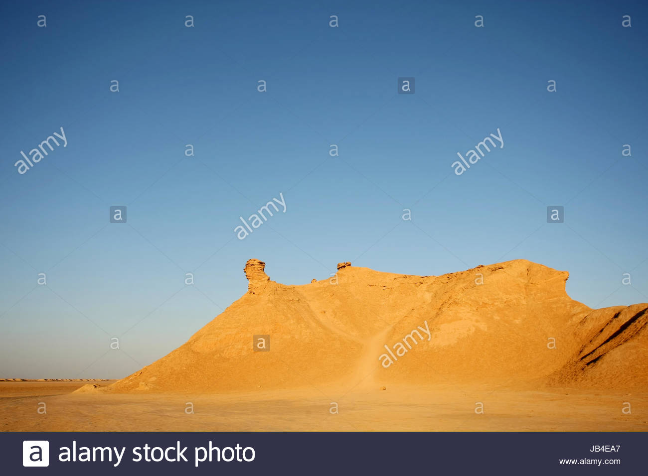 Camel head rock, one of the tourist stops in Ong Jemel, Tozeur,Tunisia. Ong Jemel is the place near Tozeur, where - Stock Image