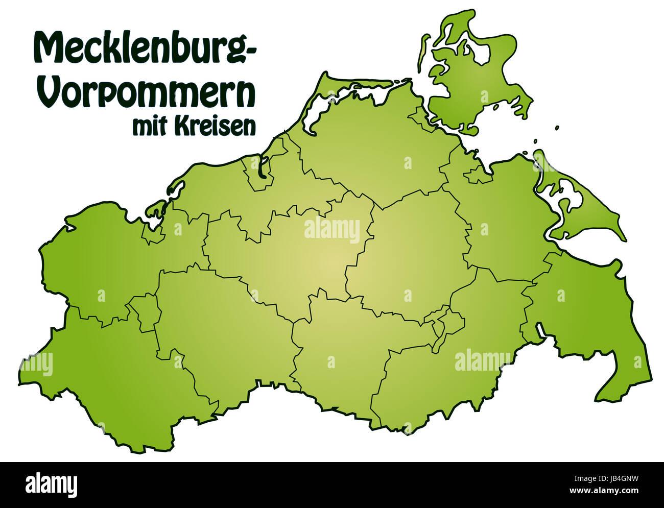 Bei der Darstellung des Gebietes wurde besonders großer Wert auf die Übersichtlichkeit gelegt. Die Karte - Stock Image