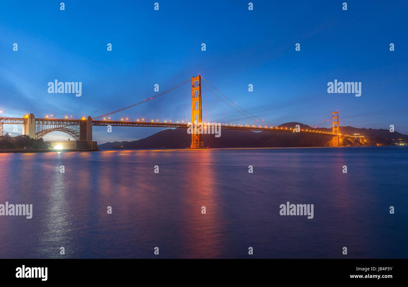 World Famous landmark of the world, Golden Gate Birdge - Stock Image