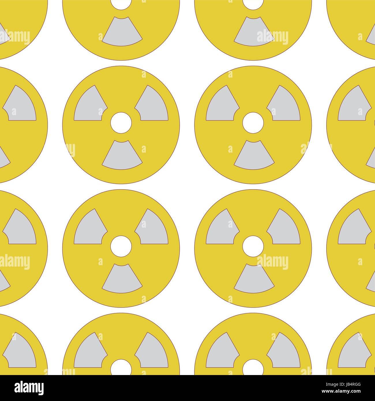 radiation symbol to dangerous and ecology contamination background - Stock Image