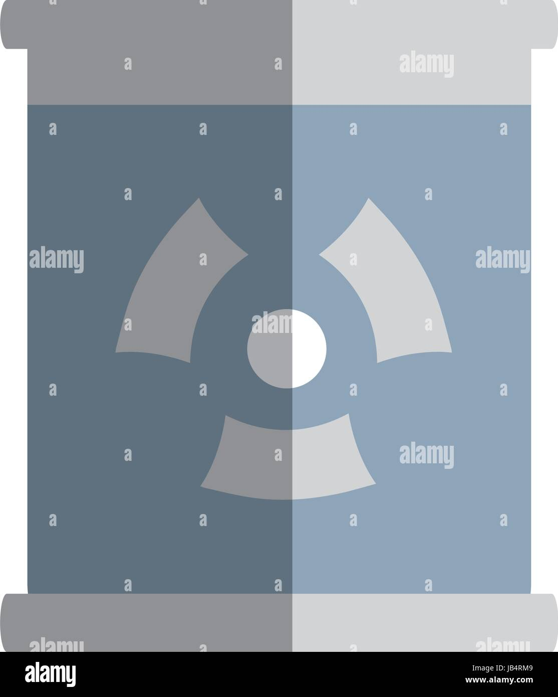 Poster With Radiation Symbol Of Danger Stock Vector Art