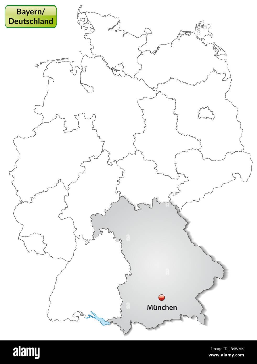 Deutschland Karte Bayern Munchen Stock Photos Deutschland Karte