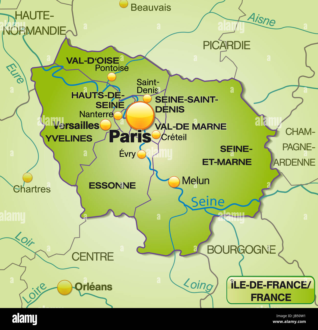 Karte Von Ile De France High Resolution Stock Photography And Images Alamy