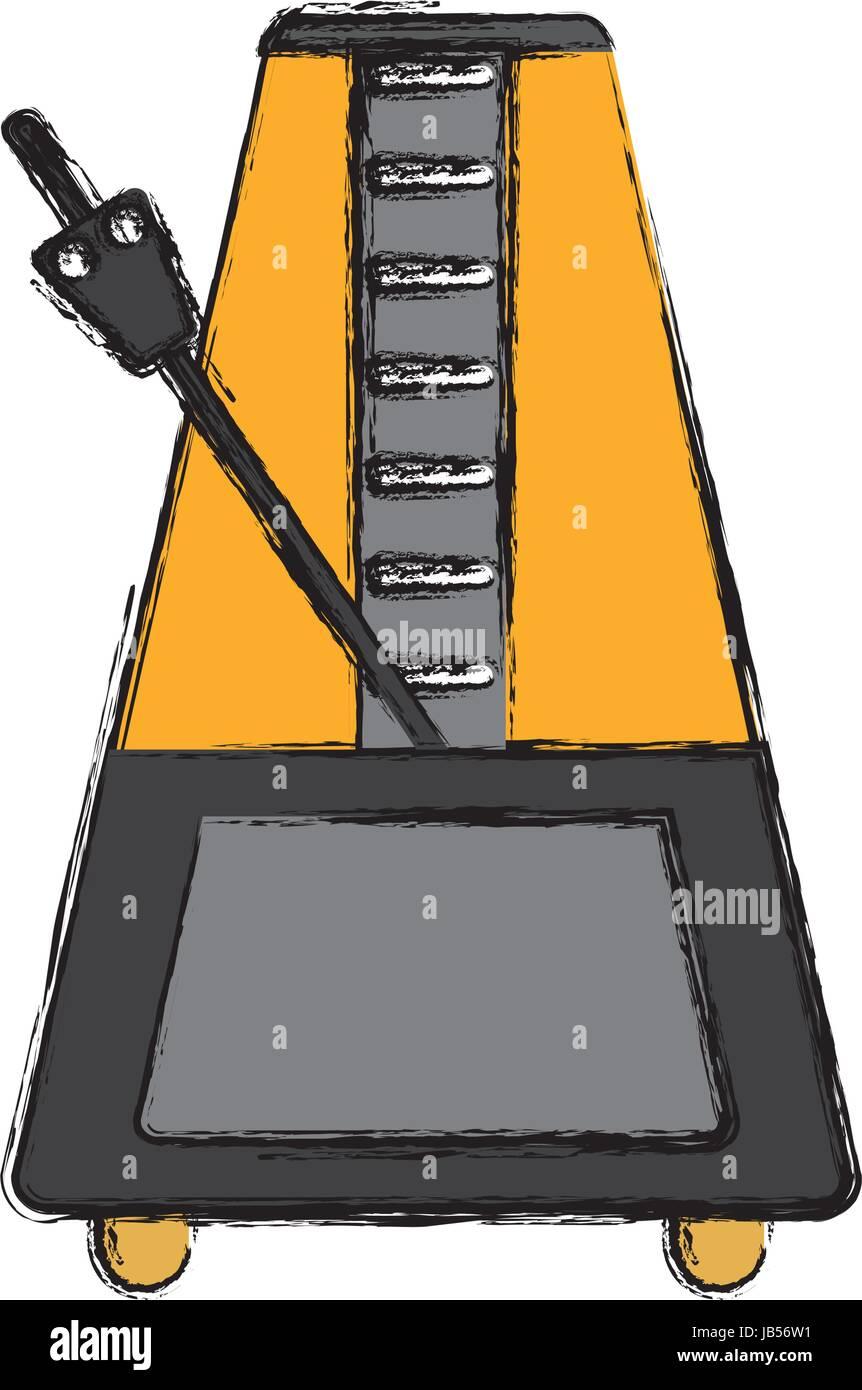 metronome icon image - Stock Image
