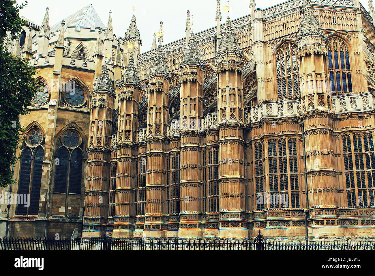 The Westminster Abbey church in London, UK Stock Photo