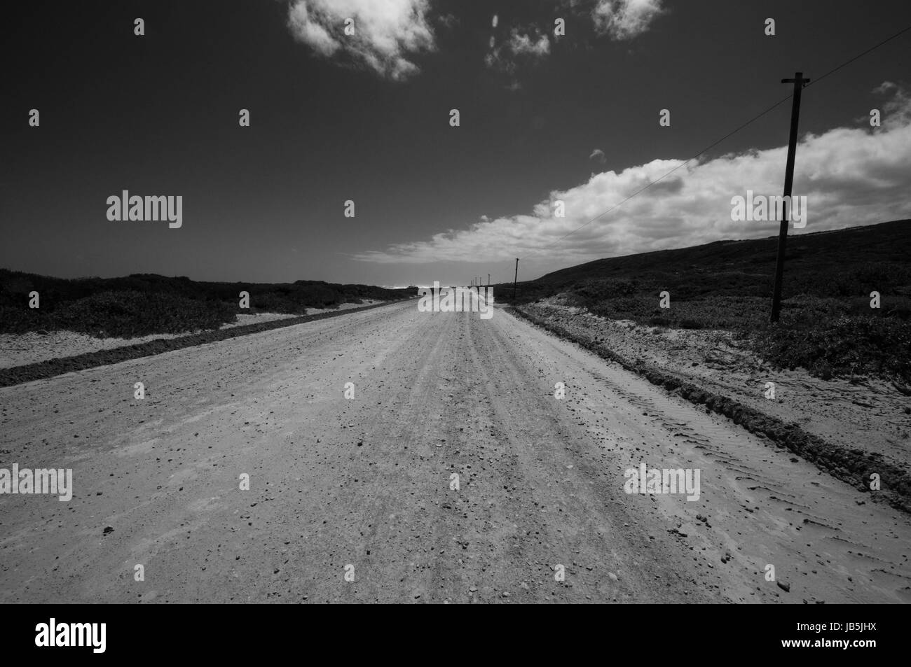 Dusty outback Road - Stock Image