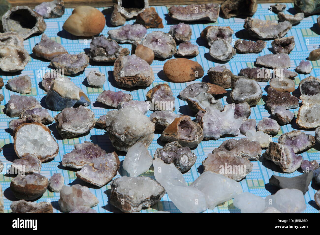 mineral ores in mongolia - Stock Image