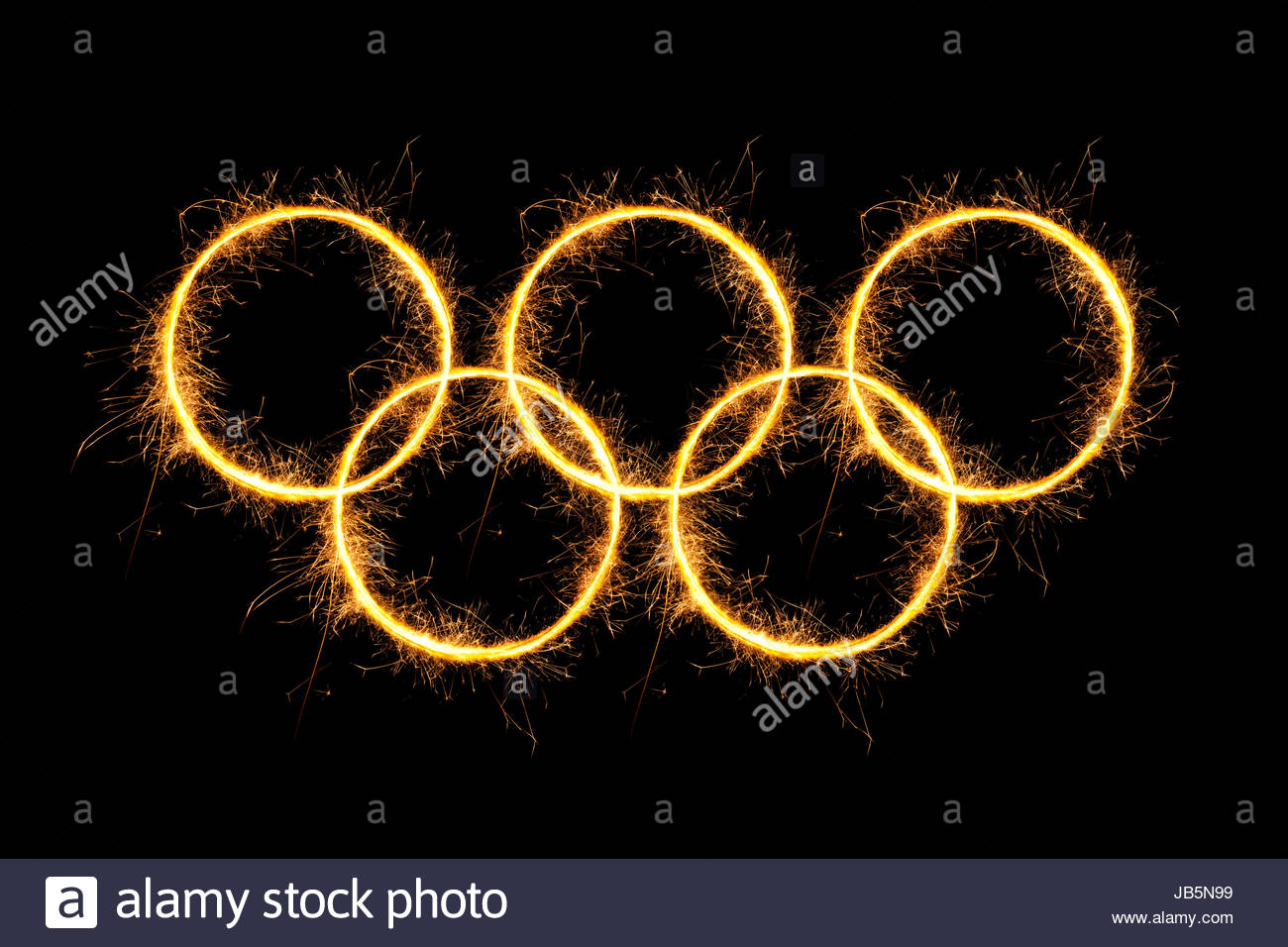olympic rings isolated on black background22nd xxii