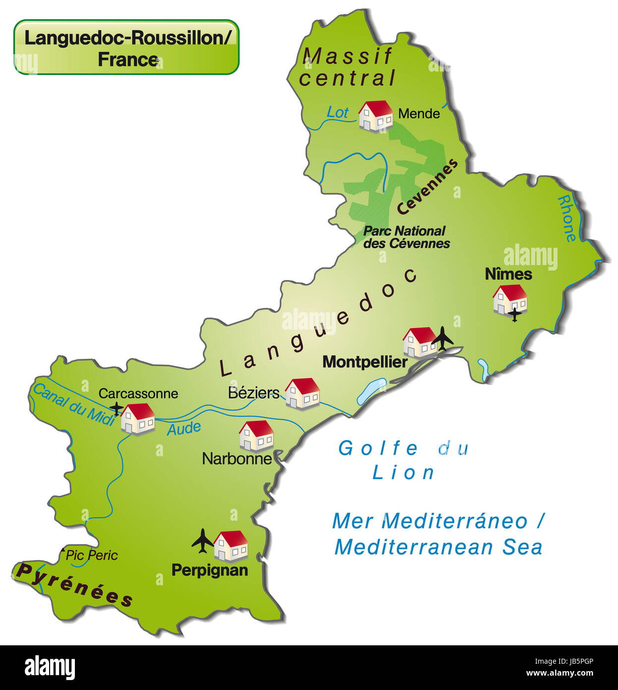 Languedoc Roussillon Cut Out Stock Images Pictures Alamy