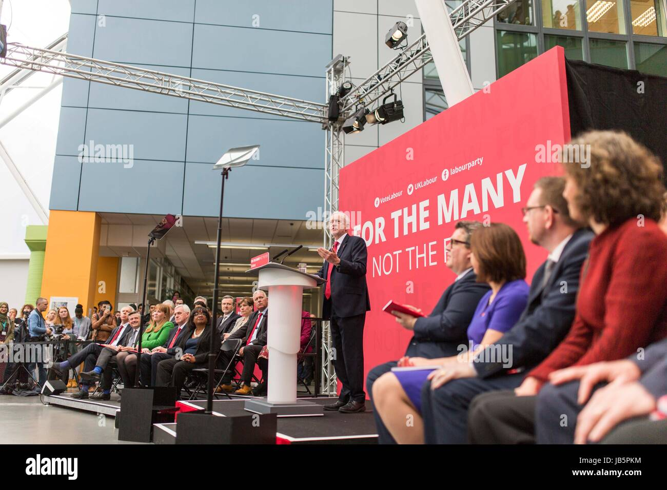 Jeremy Corbyn and his Shadow Cabinet launch Labour's General Election manifesto - Stock Image