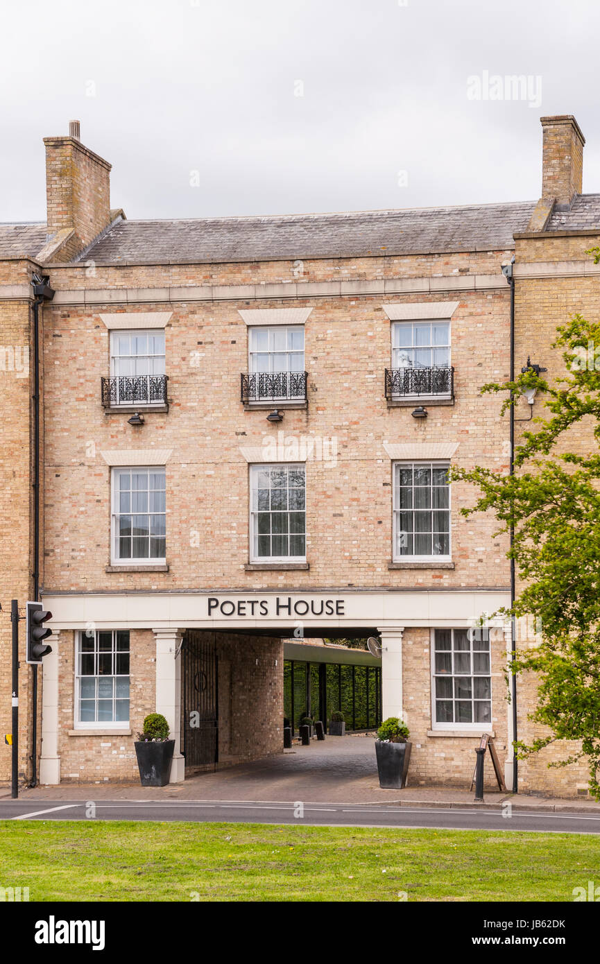 The Poets House in Ely , Cambridgeshire , England , Britain , Uk - Stock Image