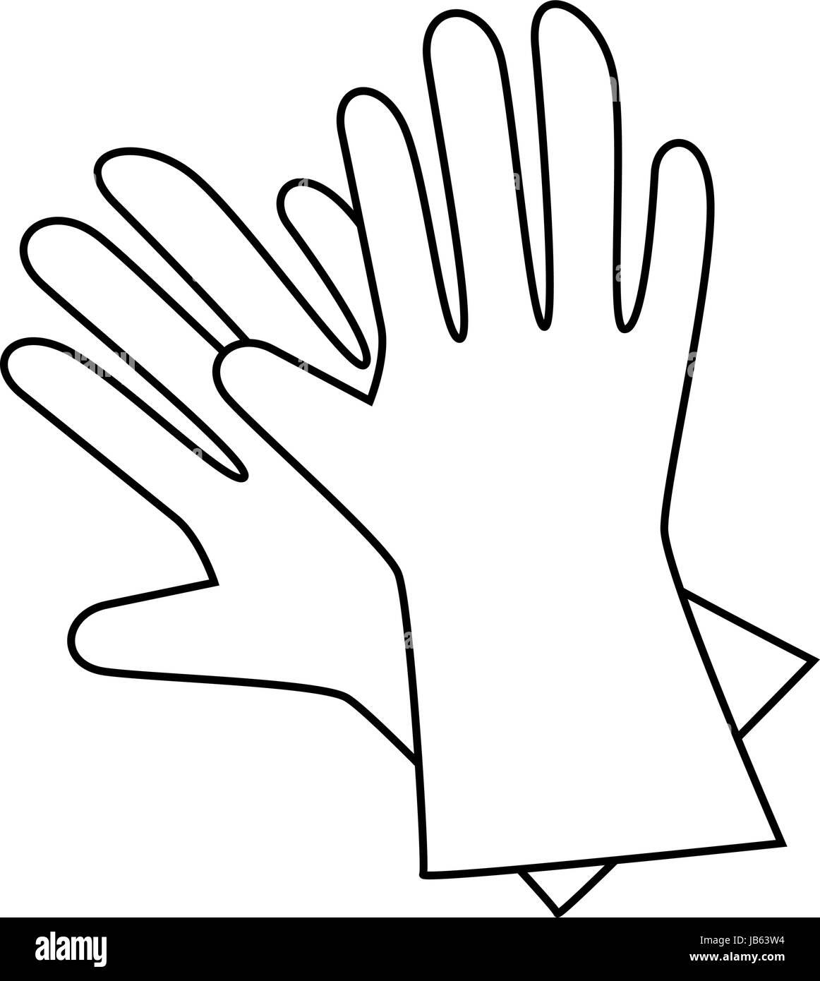 gardening gloves icon Stock Vector Art \u0026 Illustration