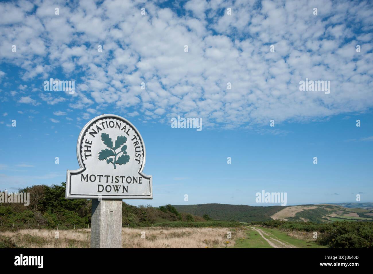 Mottistone Down, Isle of Wight - Stock Image