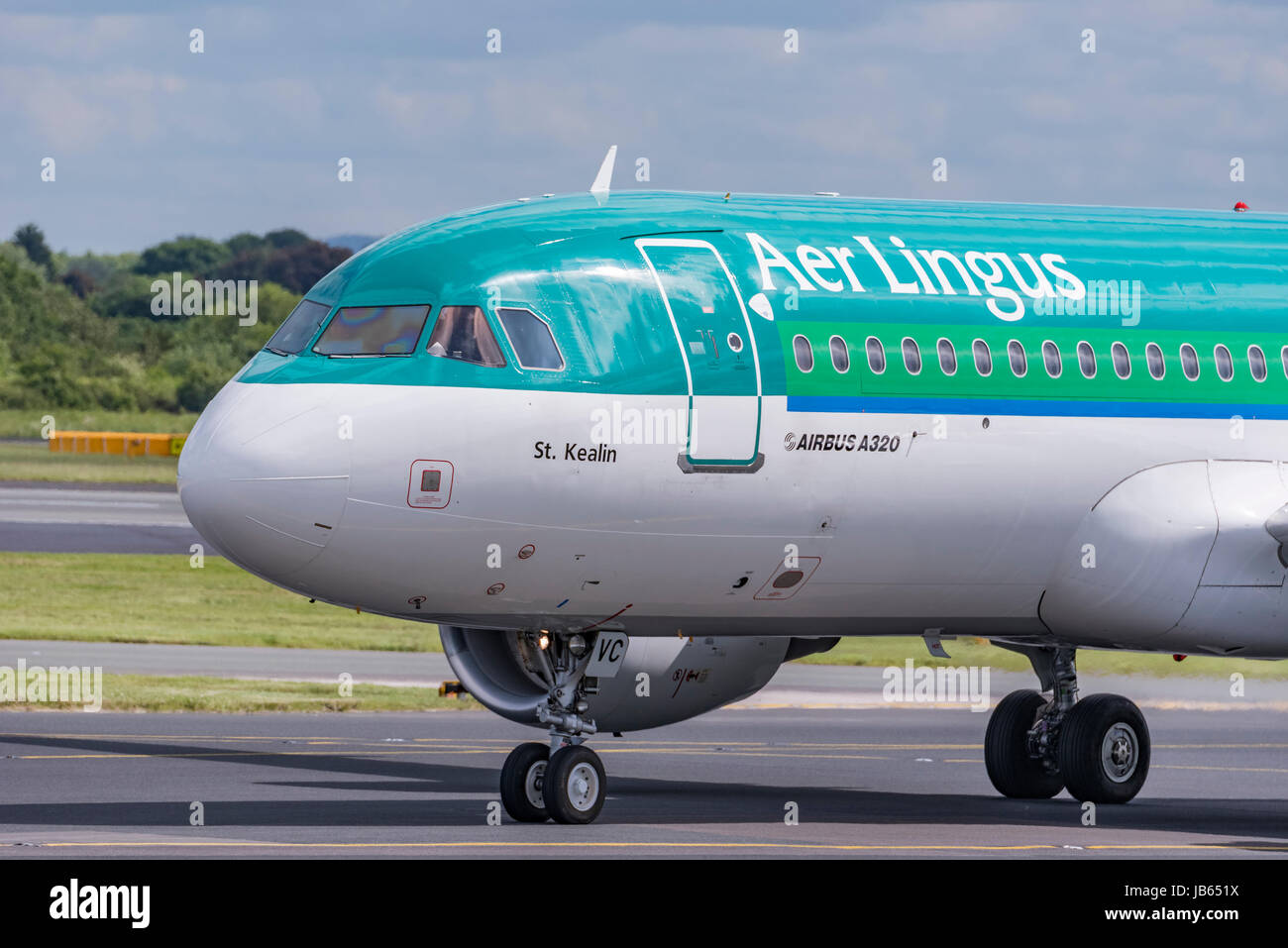 Aer LIngus Airbus A320 named St Kealin - Stock Image