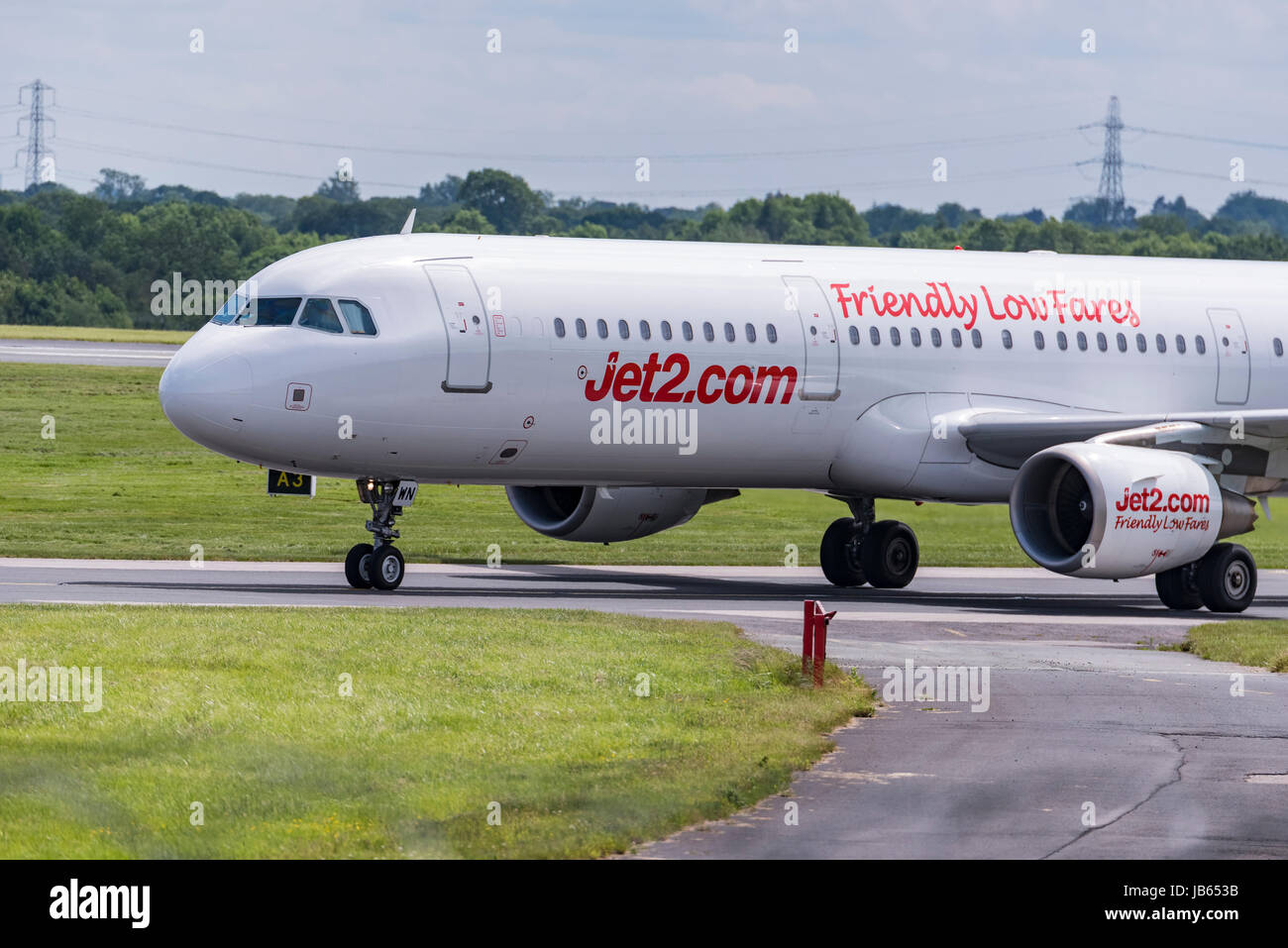 Aircraft Manchester airport Jet2 Airbus A320 - Stock Image