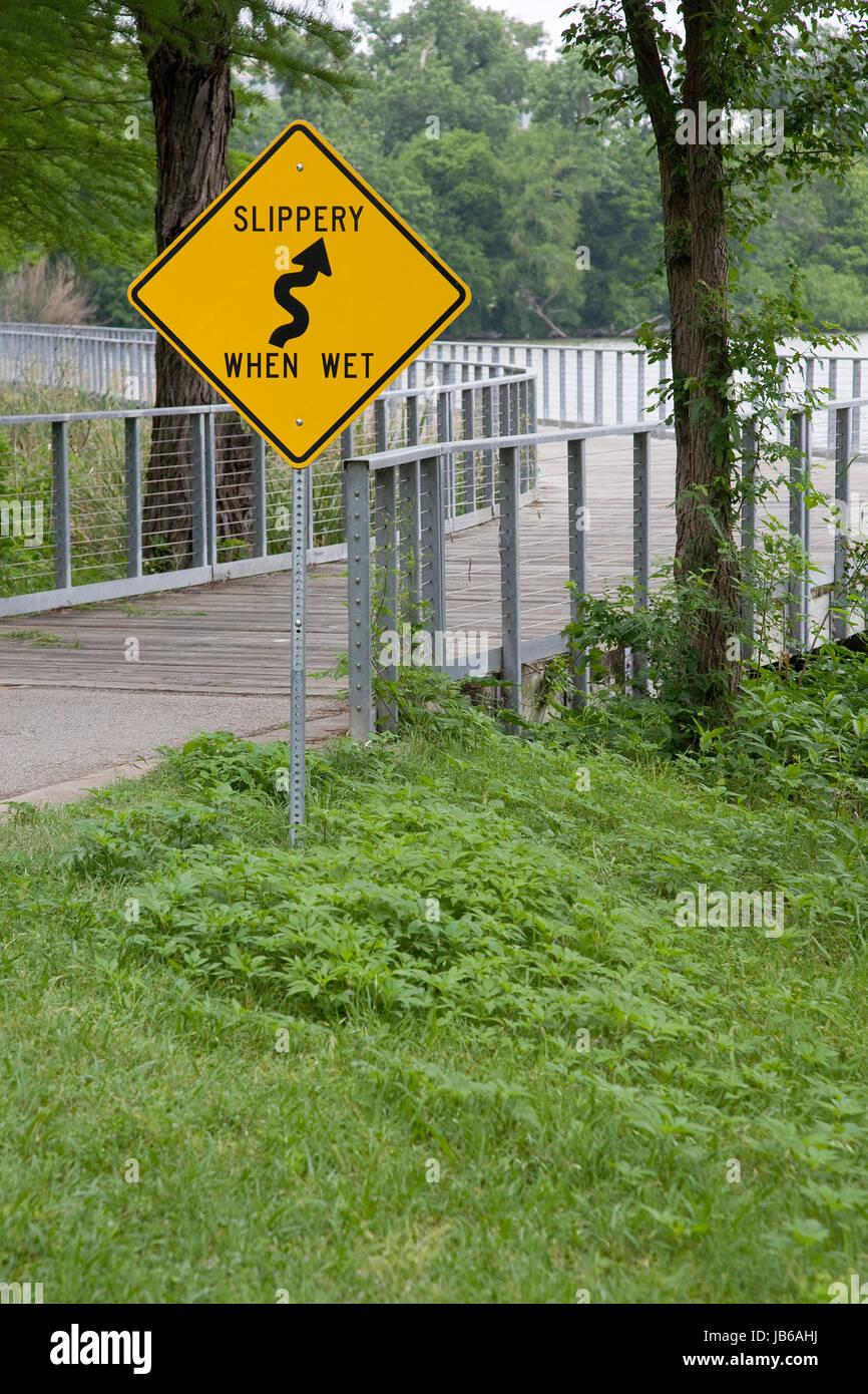 Slippery When Wet - Stock Image