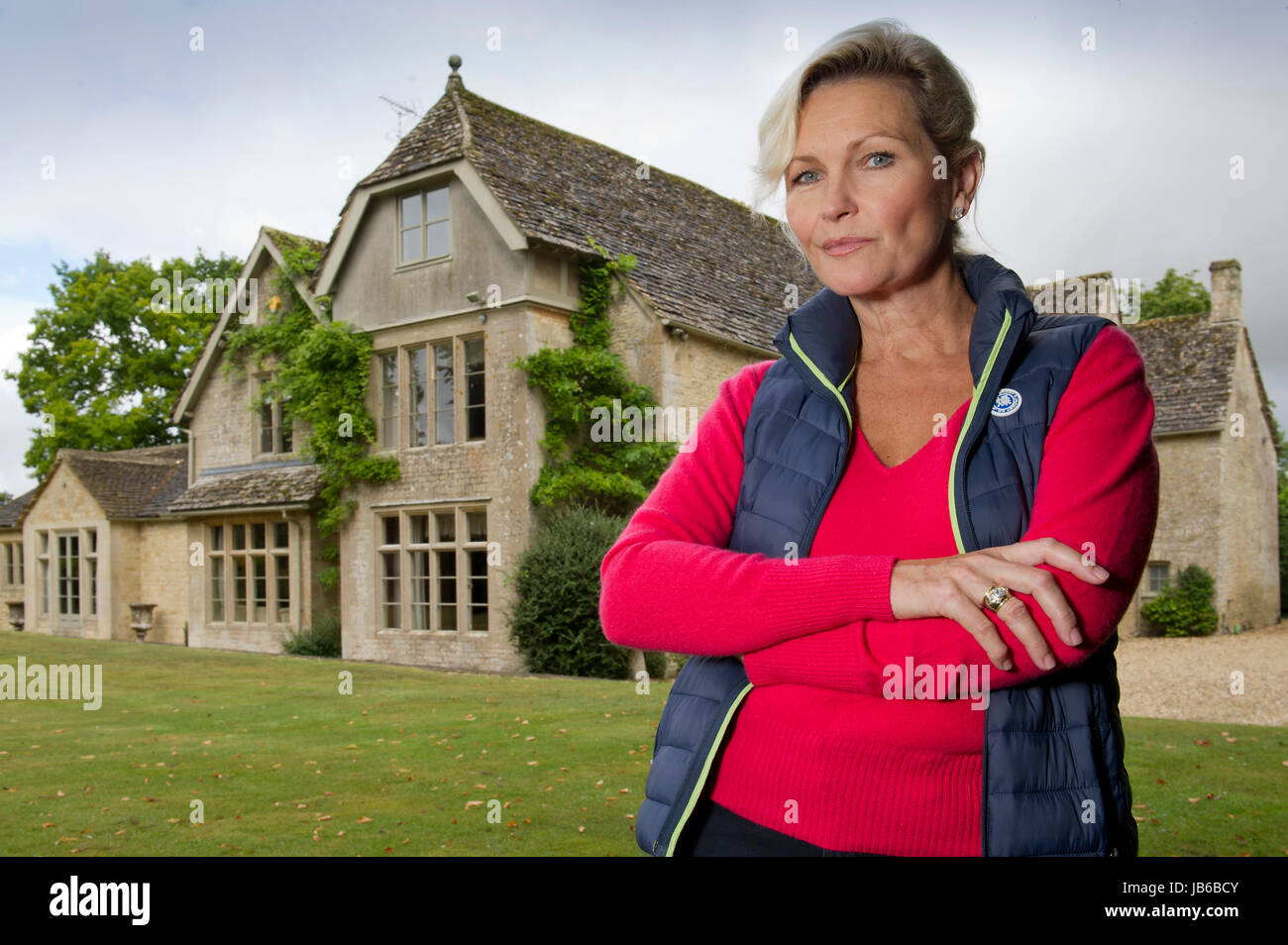 Actor Fiona  Fullerton at her home. Stock Photo