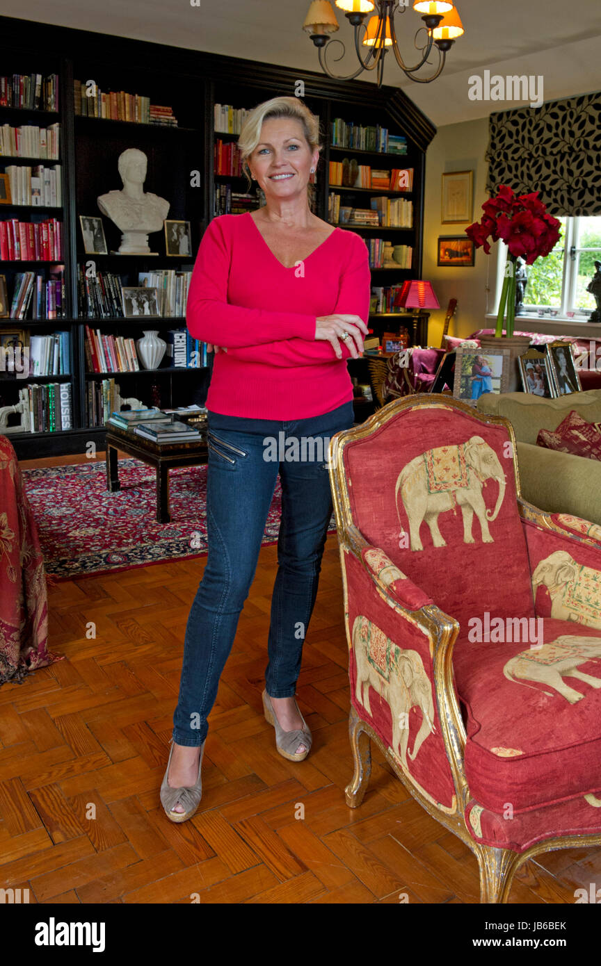 Actor Fiona  Fullerton at her home. - Stock Image
