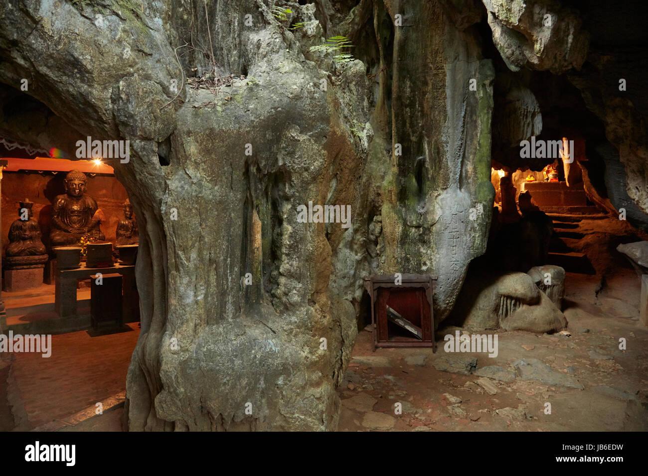 Caves at Bich Dong Pagoda complex, (UNESCO World Herritage Area), near Ninh Binh, Vietnam - Stock Image