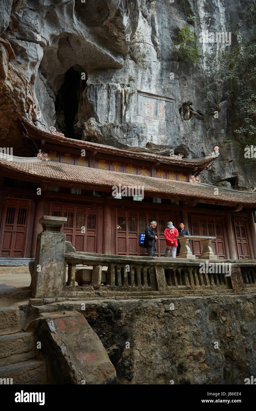 Bich Dong Pagoda and cave complex, (UNESCO World Herritage Area), near Ninh Binh, Vietnam - Stock Image