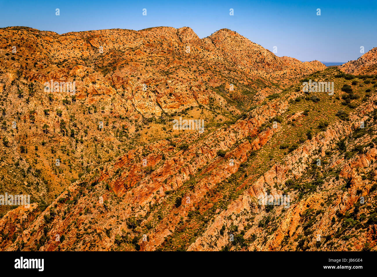 Chewings Range at West Macdonnell Ranges, Northern Territory - Stock Image