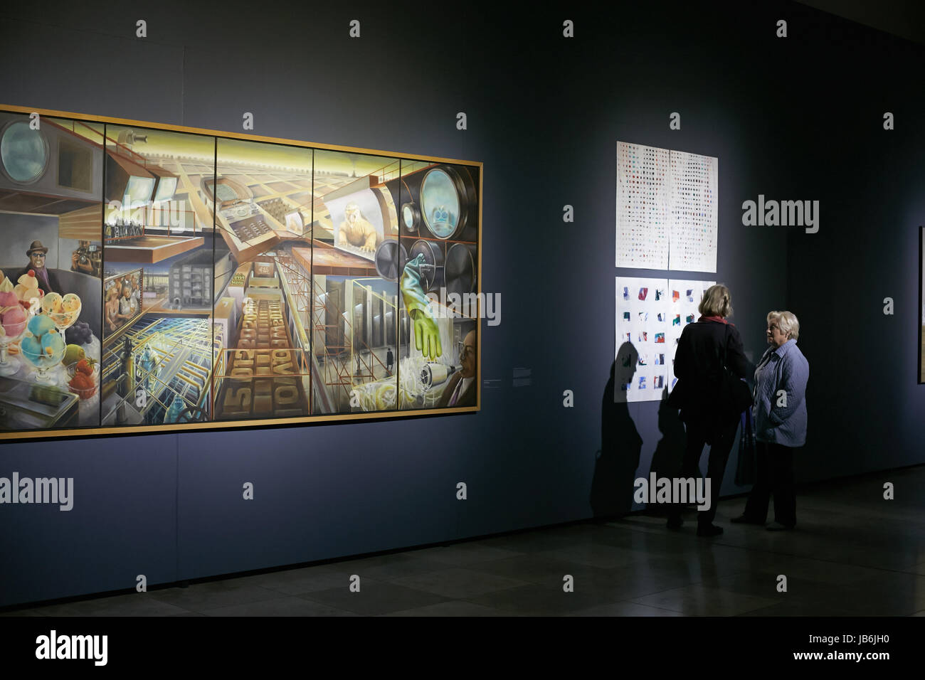 Impressions of the exhibition 'Maija Tabaka und Westberlin' at the art gallery Arsenals in Riga, Latvia, - Stock Image