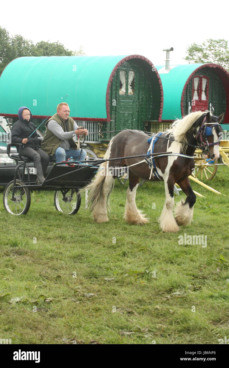 Appleby, Cumbria, UK. 9th June, 2017. The Appleby Horse Fair is one of Europes largest gatherings of people from Stock Photo