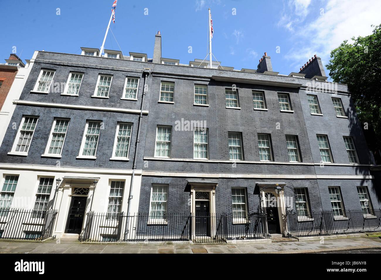 Downing Street, 10 Downing Street, 11 Downing Street, London, UK - Stock Image
