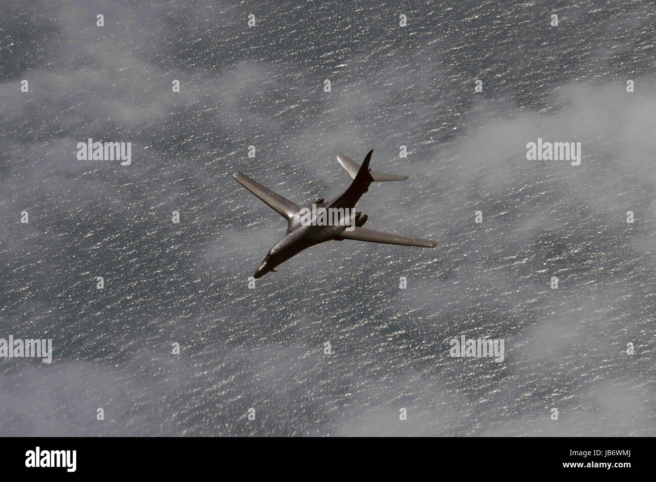 Baltic Sea. 09th June, 2017. A U.S. Air Force B-1B Lancer bomber from the 28th Bomb Wing during exercise BALTOPS - Stock Image