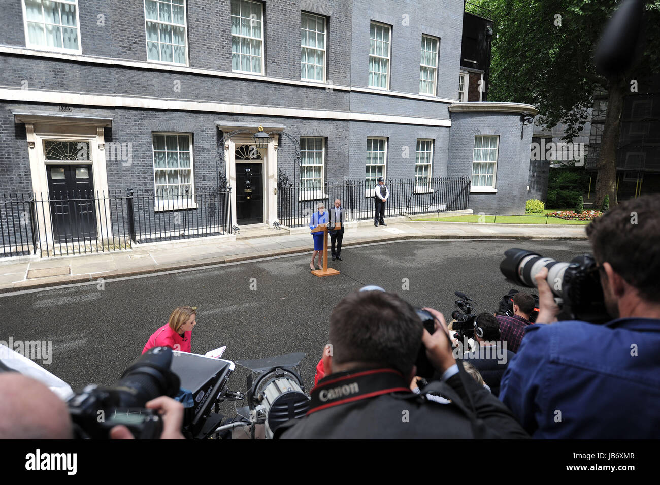 Prime Minister Theresa May in Downing Street - Stock Image