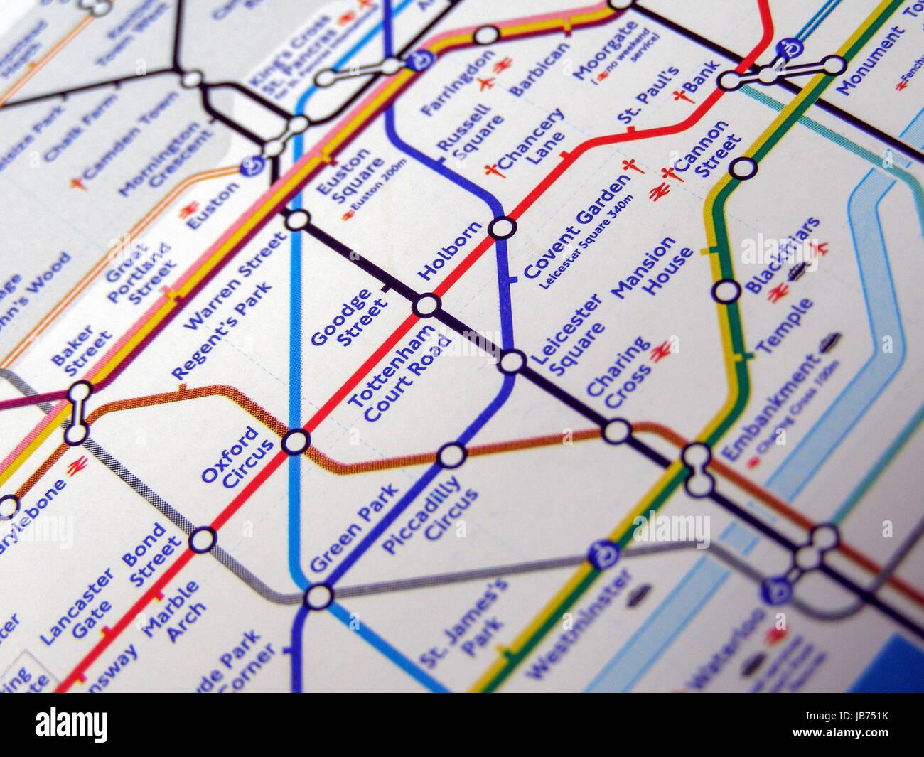 London Underground Subway Map.London England Uk November 04 2007 Tube Map Of The London