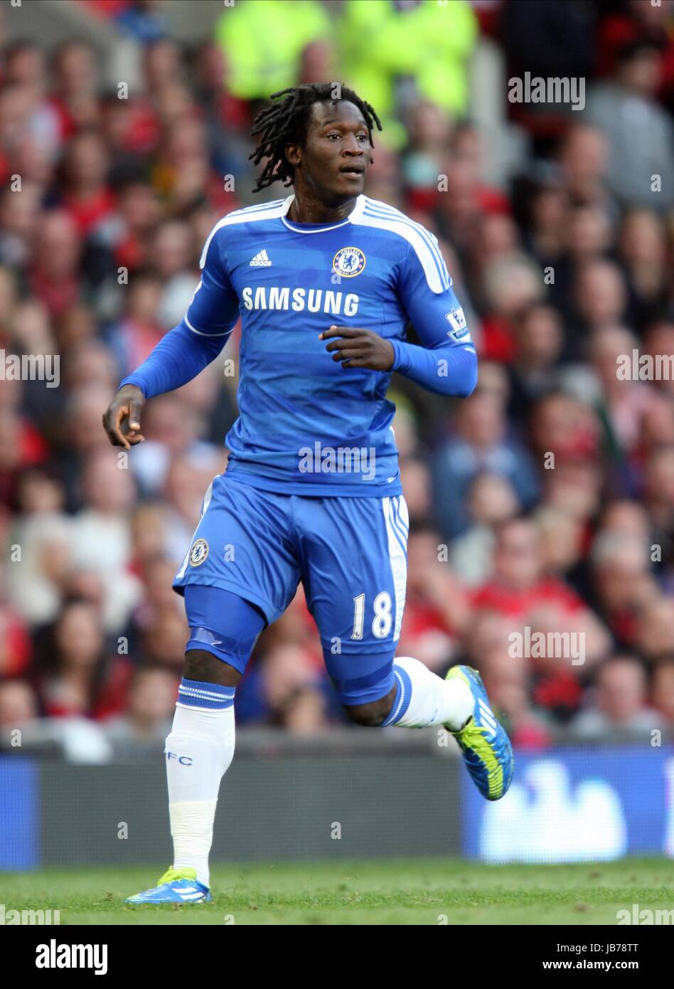 Romelu Lukaku Chelsea Fc Chelsea Fc Old Trafford Manchester England Stock Photo Alamy